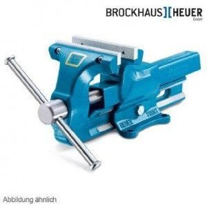 Heuer Schraubstock mit wechselbaren Klemmbacken und 140 mm Backenbreite