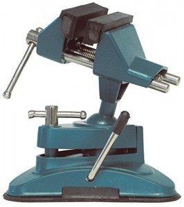 Mini Schraubstock mit Vakuum Saugfuss