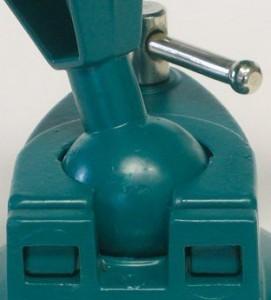 Klemmbares Kugelgelenk eines Mini Schraubstock