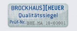 Brockhaus Heuer Schraubstock Hersteller Qualitätssiegel