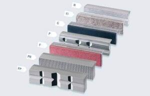 Heuer Schraubstock Schutzbacken in sieben verschiedenen Ausführungen