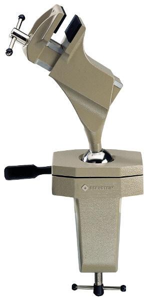 Spannfix Bernstein Schraubstock in Standard-Ausführung mit Kugelgelenk und Tischklemme