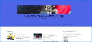 Screenshot der Webseite www.wagenheber-profi.de.