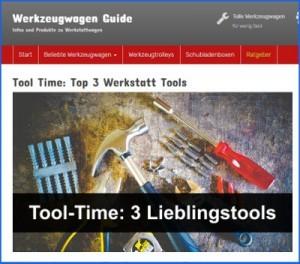 Screenshot von werkzeugwagen.guide zur Blogparade von schraubstock-test.de.